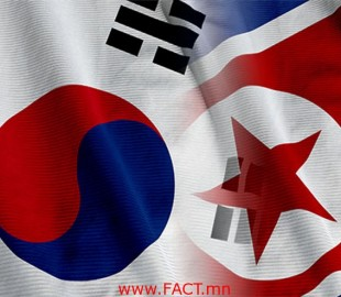 Close up of the North Korean flag, square image