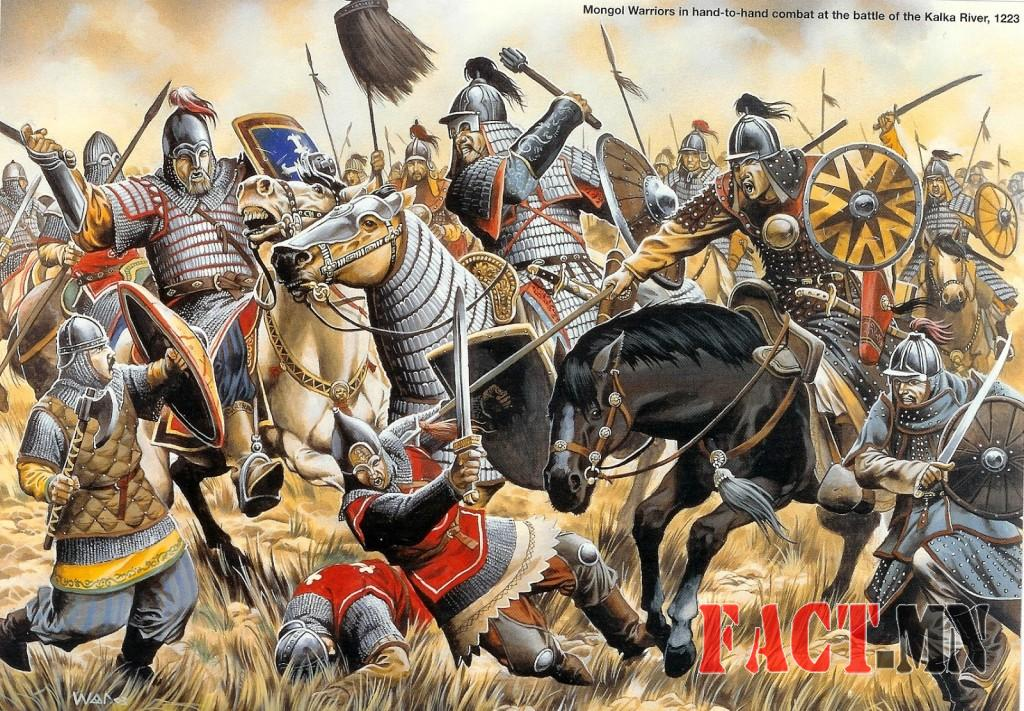 mongol heavy cavalry battle of kalka river 1223