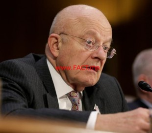 "Director of National Intelligence James Clapper testifies to the Senate Select Committee on Intelligence hearing on ""Russia's intelligence activities"